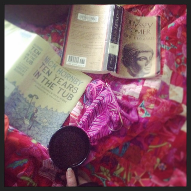 A VERY good Saturday morning. #taralovesmornings   (More on my (crazy) #greatbooksproject on the FB page. Link in profile. Join me?)
