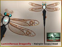 Bliensen - Luminiferous Dragonfly - Hairpin-Hatpin