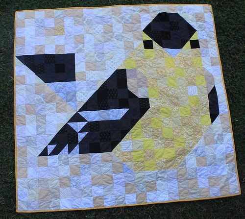 Charley Harper Goldfinch Quilt Finished!