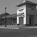 New Cotati train station waiting, waiting for the trains to come in 2016.  Pentax 6x7, 6x7 105mm lens, f11 @ 1/60, Tmax 100 developed in HC110.   Used multiple spot metering values to determine exposure a la zone system. Interesting process.
