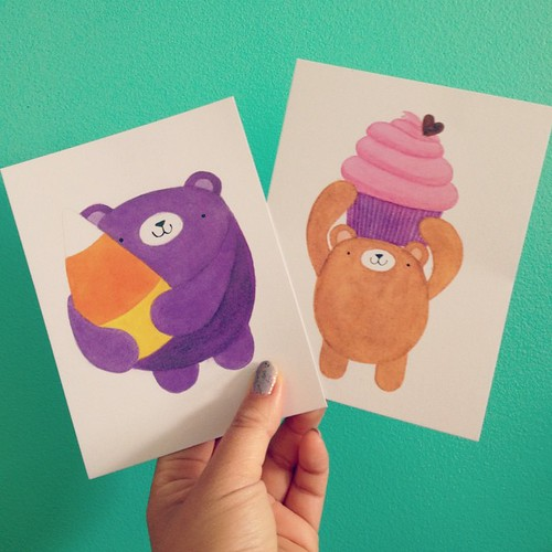 New postcards just arrived too! #migrationgoods #pudgybear #stationery