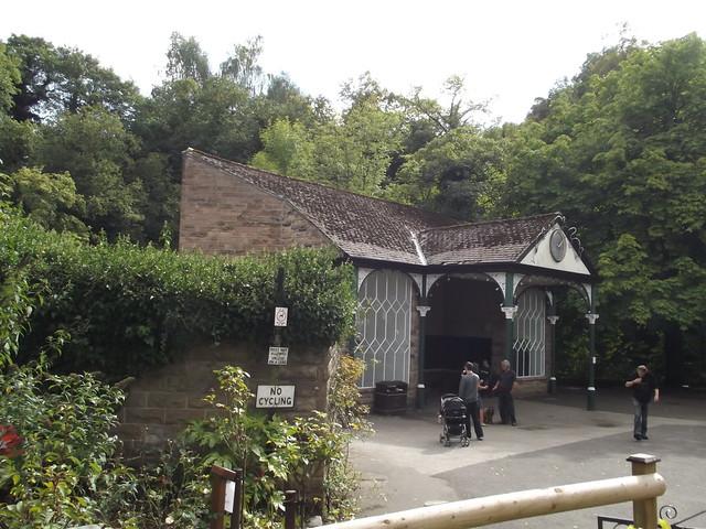 Small Park Shelters : Small park north parade matlock bath toilets and a