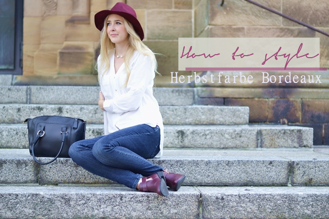 How to style Herbstfarbe Bordeaux Eugli Banner