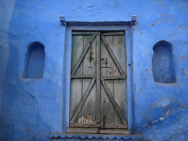 Door in Beautiful Blue Bundi, India