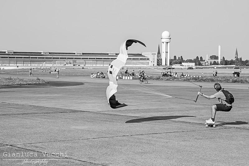 Kitesurf a Tempelhof Berlino