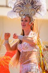 showgirl in white