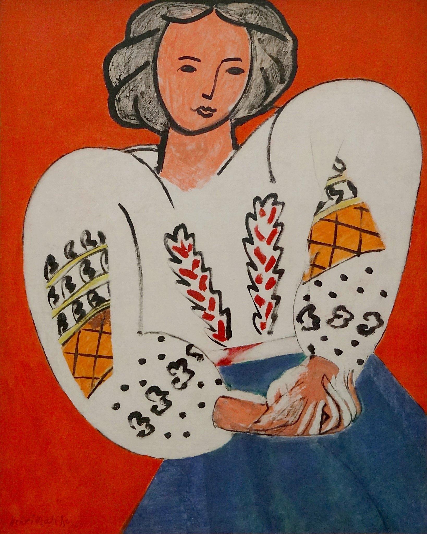 """""""La blouse roumaine"""", Henri Matisse, 1940. Centre Pompidou, Paris."""