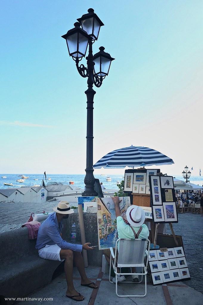 Un pittore a Positano