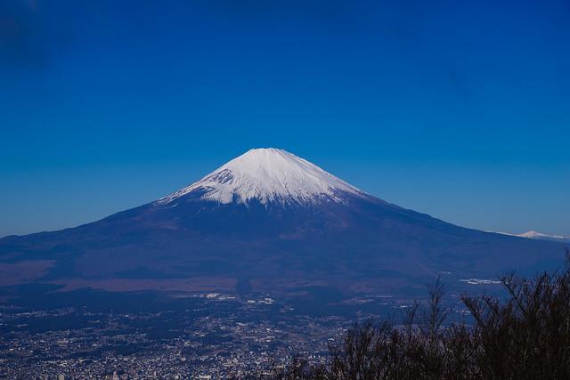 金時山より仰ぐ富士山