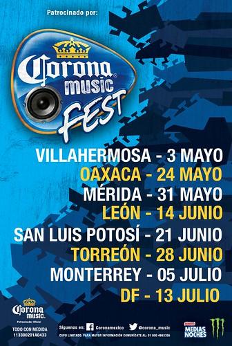 Corona Music Fest Ciudades