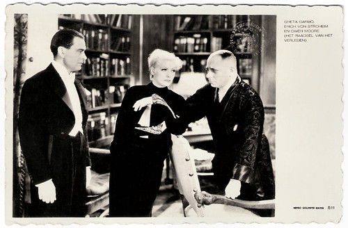 Greta Garbo, Owen Moore and Erich von Stroheim in As You Desire Me (1932)