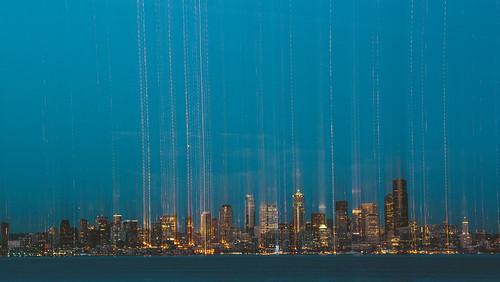 seattle longexposure motion blur canon buildings evening washington cityscape dusk trails westseattle pacificnorthwest pugetsound lighttrails bluehour pnw canonef2470mmf28lusm elliotbay canoneos5dmarkiii
