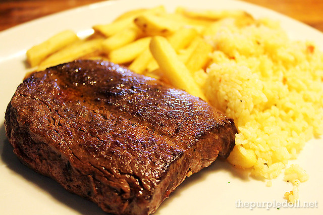 Outback Special (P999) with Aussie Fries and Rice Pilaf