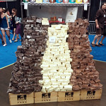 Chocolate Mountain at the Urban Fare Booth