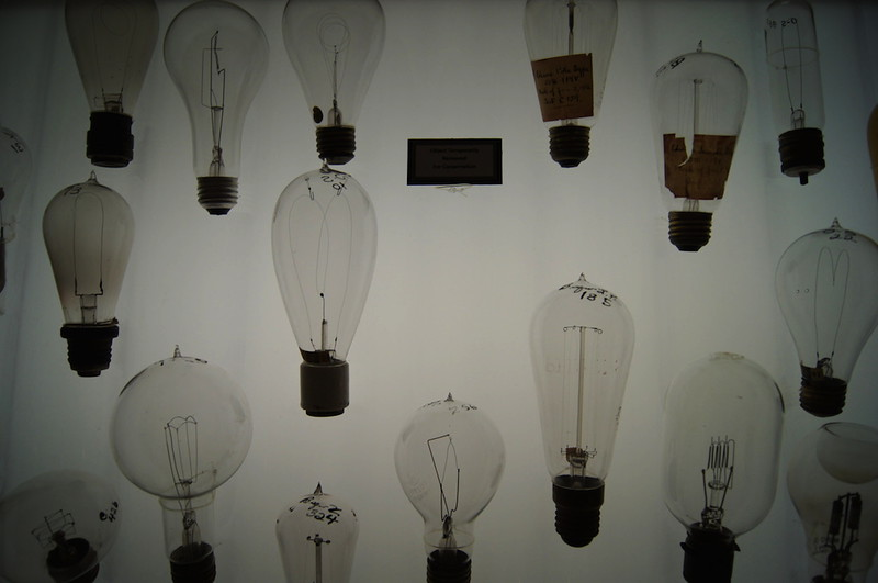 Historic light bulbs.