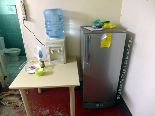In the kitchen with the Refrigerator, Water dispenser and electric water boiler. DDD Habitat Inc. in Lorega, Kitaotao, Bukidnon