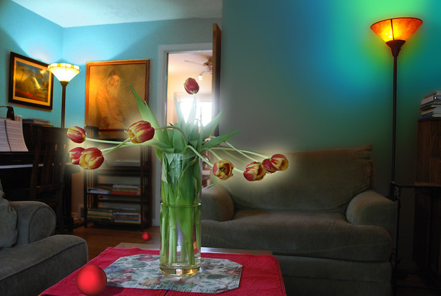 Another Look, Into the Light, Tulips and Living Room with Red Ball, May 16, 2014 9-10-0 full bpx