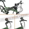 245-000-B-P-001 PARACYCLE 小傘兵前避震折疊單車20吋27速前碟軍綠色-8