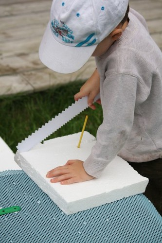 Constructing with Styrofoam (Photo from Happy Hooligans)