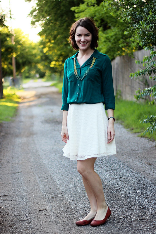 lace-skirt-green-button-down-1