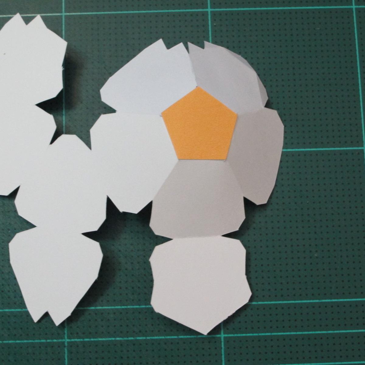 วิธีทำโมเดลกระดาษหมีบราวน์ชุดบอลโลก 2014 ทีมบราซิล (LINE Brown Bear in FIFA World Cup 2014 Brazil Jerseys Papercraft Model) 003