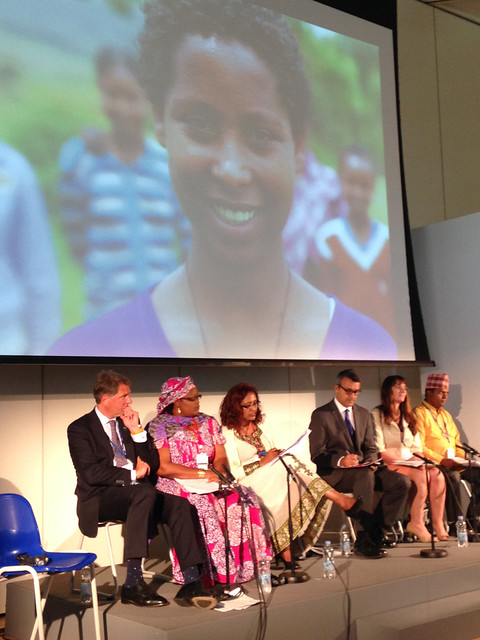 Her Excellency, Ms. Zenebu Tadesse in a panel at the Girl Summit.