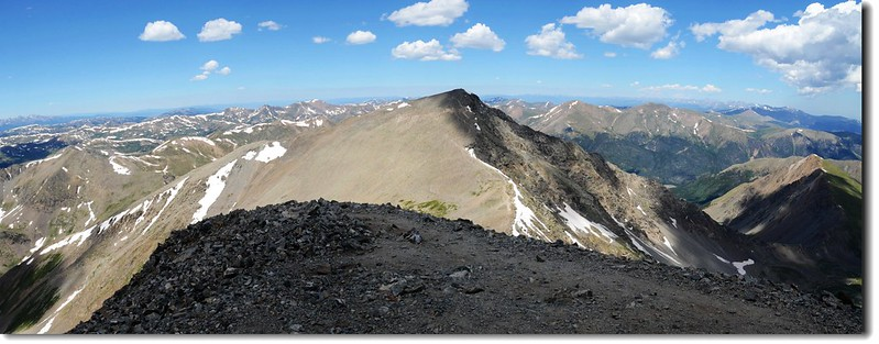 View to the North from Grays Peak's summit