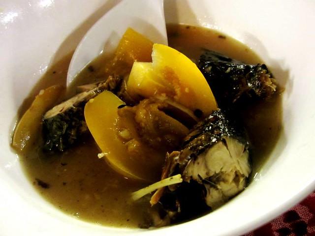 Terung Dayak with salai ikan