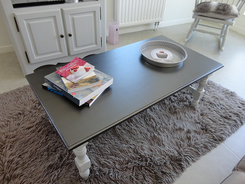 table basse et meuble t l relook s peinture design touch fourchettes et pinceaux. Black Bedroom Furniture Sets. Home Design Ideas
