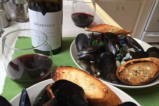 Merryvale 2010 Pinot Noir - Mussels