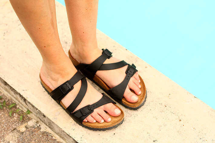 birkenstocks three straps pool