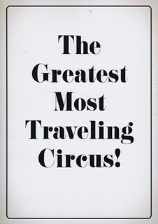 The Greatest Most Traveling Circus by Jonas