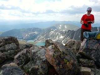 Clare on Holy Cross Ridge Summit