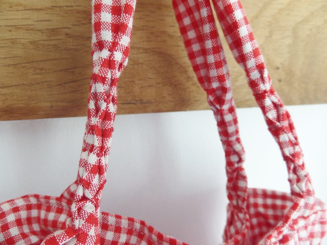 Handles of Smocked Peg Bag