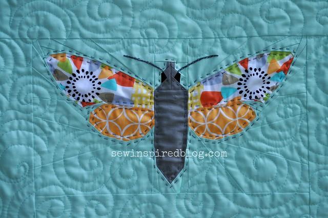 moth quilt detail