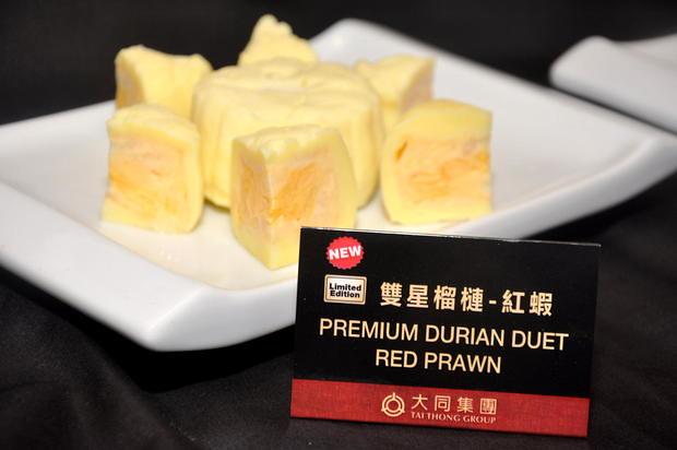 Tai Thong Mooncake 3 Premium Durian Duet Red Prawn