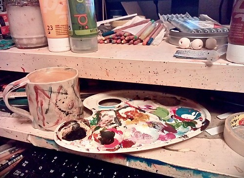 Late night coffee, late night colors