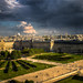 Coming storm over the Louvre