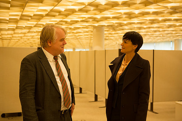 Philip Seymour Hoffman and Robin Wright are caught in a web of deceit in A MOST WANTED MAN.