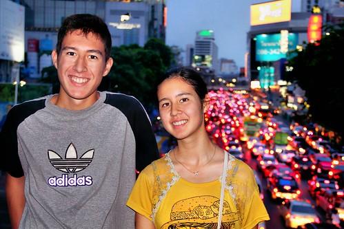 BieJee and Samantha in Bangkok