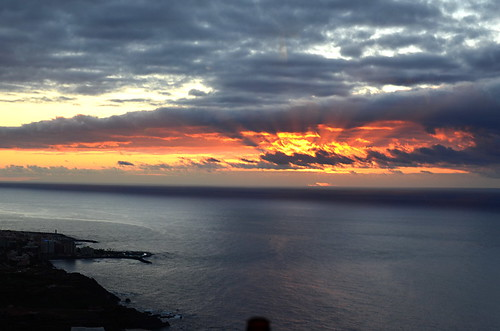 Sunset over Tenerife's north west coast
