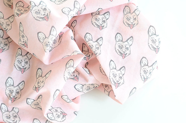 crazy like a fox fabric