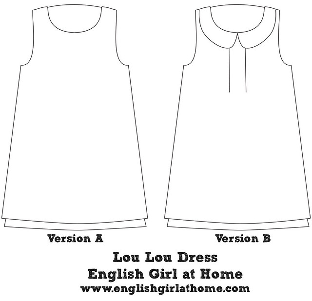 Lou Lou Dress Line Drawings