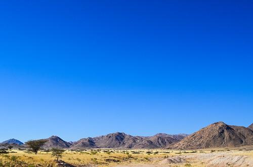 Montagnes au bord du désert du Namib