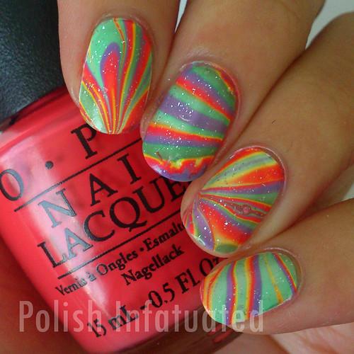 rainbow watermarble