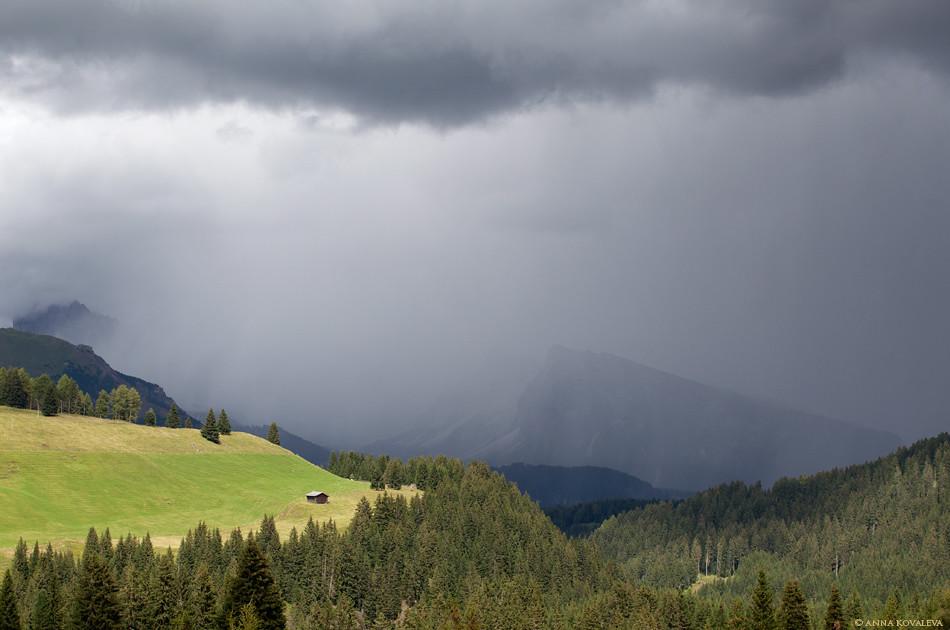 rain in Soth Tyrol