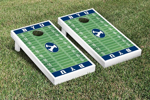 Brigham Young University BYU Cougars Cornhole Game Set Football Field