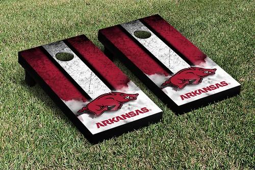 Arkansas Razorbacks Cornhole Game Set Banner Vintage Version