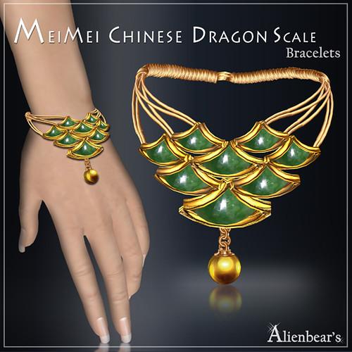 MeiMei Dragon Scale Bracelet Jade