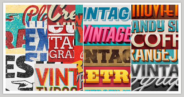 Vintage/Retro Text Col 7